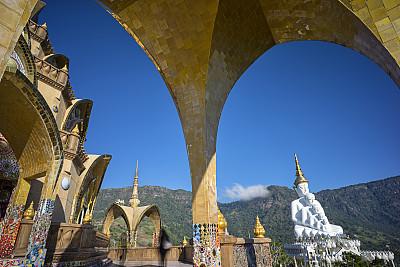 僧院,翠玉佛祖圣厅,犹太教会堂,宝塔,灵性,不锈钢,水平画幅,早晨,旅行者,泰国