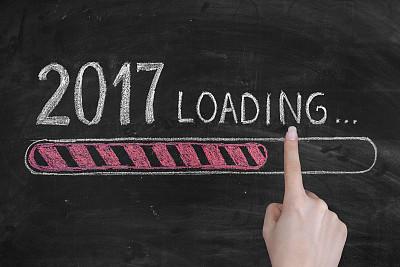 新年前夕,黑板,2017年,春节,粉笔画,电池,空头支票,贺卡,留白