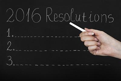 黑板,决心,2016,春节,粉笔画,运动目标,贺卡,留白,新的