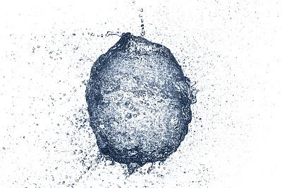 超慢镜,水,气球,饮用水,水滴,白色背景,水平画幅,抽象,图像