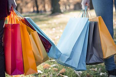 女人,拿着,购物袋,多色的,青少年,休闲活动,顾客,青年人,儿童,可爱的