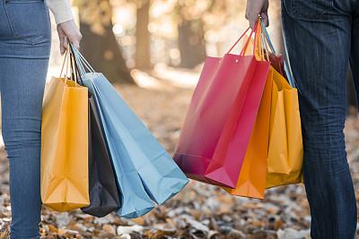 女人,拿着,购物袋,多色的,青少年,休闲活动,顾客,女朋友,青年人,儿童