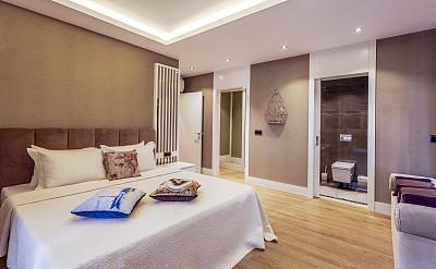 卧室,舒服,宾馆套房,留白,度假胜地,水平画幅,无人,家庭生活,早晨