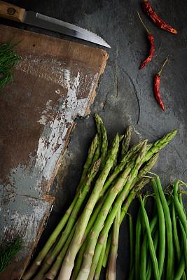 蔬菜,静物,芦笋,垂直画幅,素食,无人,生食,维生素,组物体,乡村风格