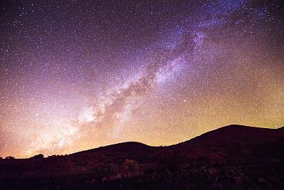 莫纳亚克火山,可那,夏威夷大岛,银河系,天空,夜晚,山,andromeda galaxy,戏剧性的景观,夏威夷