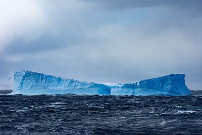 南极洲,巨大的,冰山,冰川,南冰洋,两极气候,水,天空,美,水平画幅