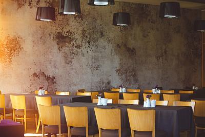 桌子,酒店服务台,餐馆,餐位,柔焦,整齐的,室内,人生大事,正餐宴会,选择对焦