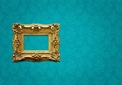 相框,华丽的,全部,新艺术主义,留白,古董,边框,艺术,水平画幅,墙