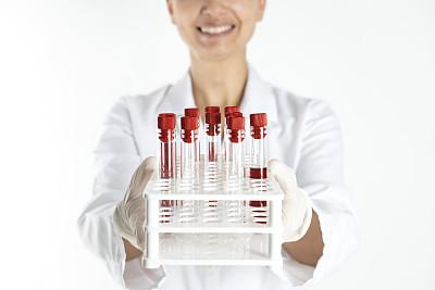 医学检测,女医生,水平画幅,技术员,注视镜头,装管,微生物学,试管,制服,白人