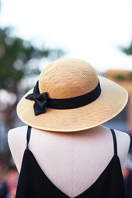 假人撞击测试,草帽,曼谷,黑色,连衣裙,无人,时尚,户外,外衣,垂直画幅