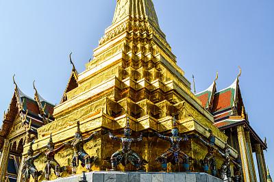 泰国,曼谷,玉佛寺,水平画幅,修道院,无人,东亚,户外,僧院,佛塔