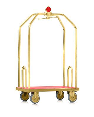 行李车,无人,分离着色,行李,酒店,黄铜,垂直画幅,黄金,全身像,地毯
