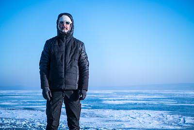北极,北极点,南极洲,奥地利,厚衣服,冻结的,络腮胡子,天空,留白,气候