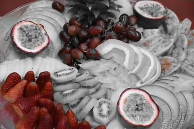 水果,盘子,彩色图片,梨果仙人掌,杨桃,西番莲,累积赌注,水果沙拉,奇异果-水果,菠萝