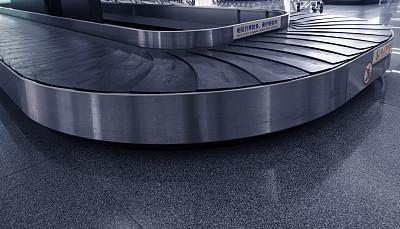 传送带,机场,货物集装箱,格子图案,上海浦东国际机场,货梯,浦东,上海,正面视角,水平画幅