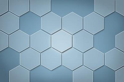 六边形,触摸屏,概念,大于号,鼠标,蜂窝,瓷砖,三维图形,蓝色背景,留白
