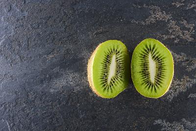 清新,猕猴桃,奇异果-水果,留白,美国,水平画幅,绿色,木制,水果,无人