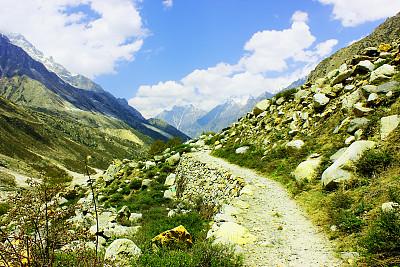 喜马拉雅山脉,山脉,山谷,自然美,gangotri glacier,安娜普娜山脉群峰,雪山,天空,水平画幅,山