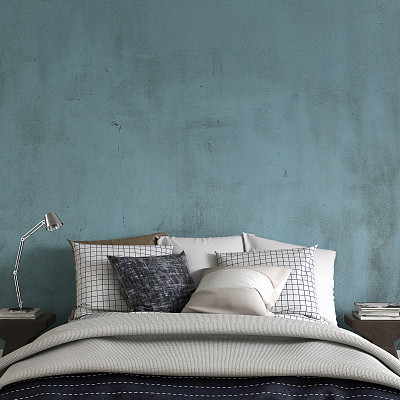 卧室,留白,宾馆客房,怀旧风格,正面视角,风化的,墙,无人,古典式,家庭生活