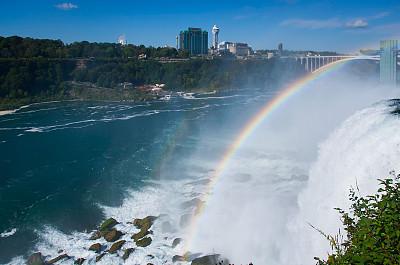 尼亚加拉瀑布,尼亚加拉瀑布市,尼亚加拉河,水,天空,水平画幅,过大的,能源,巨大的,湿