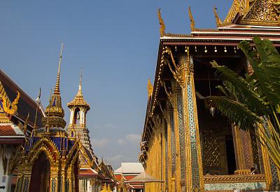 玉佛寺,泰国,曼谷,旅游目的地,水平画幅,建筑,无人,僧院,佛教,寺庙