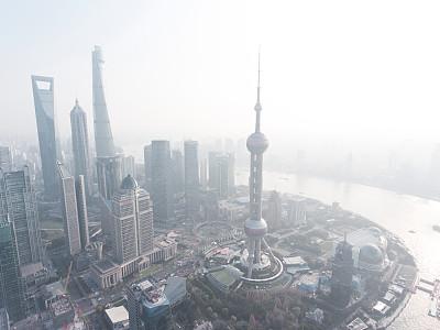 上海,城市天际线,外滩,陆家嘴,浦东,黄昏,云,现代,钢铁,商业金融和工业