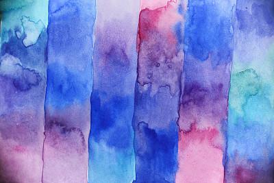 抽象,背景,水彩画,品红色,水彩颜料,留白,水平画幅,纹理效果,无人