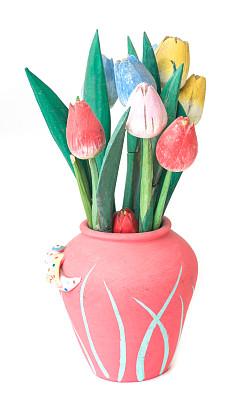 仅一朵花,木制,手艺,礼品区,垂直画幅,美,人造的,连衣裙,郁金香,无人
