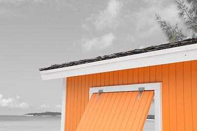 大特克,凉棚,巴哈马国,海滩,加勒比海地区,特克斯和凯科斯群岛,圆形,天堂,水平画幅,地形