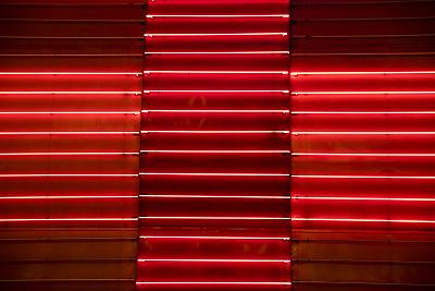 霓虹灯,明亮,红色,金属质感,背景,美国,水平画幅,无人,户外,金属