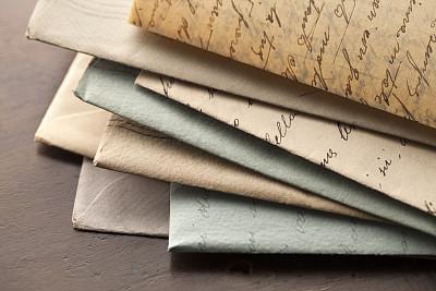 信封,信函,古典式,过去,消息,橡皮章,水平画幅,无人,古老的,文档