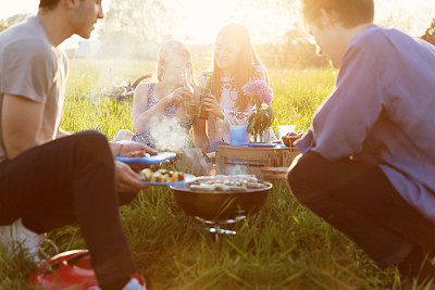烤肉架,夏天,友谊,野餐,乐趣,图林根州,派对主人,游园会,格子烤肉,德式香肠