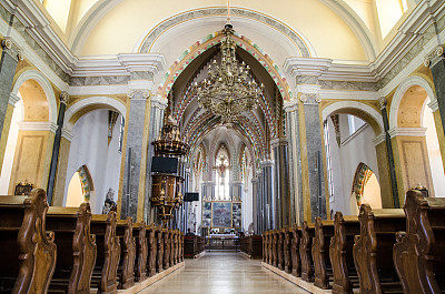 教堂,布达佩斯,室内,里面,城市,讲道坛,过道,水晶吊灯,灵性,长椅