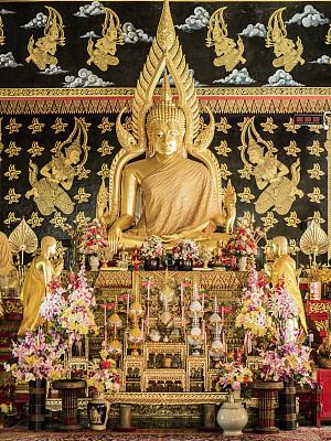 清迈省,僧院,泰国,雕像,清迈城,伯阿迪西亚像,垂直画幅,艺术,无人,国际著名景点