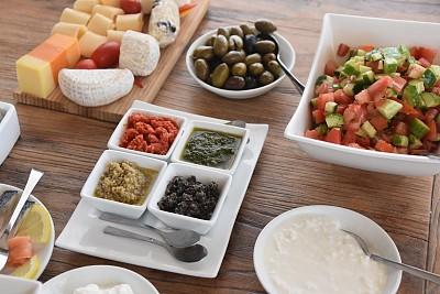 以色列,健康食物,早餐,欧洲赤松,膳食,成分,平衡折角灯,枸杞,奇亚籽,煮食