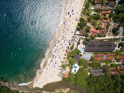 海滩,热带气候,风景,顶部,福塔雷萨,伊比沙岛镇,科巴卡巴纳海滩,福门特拉岛,伊比沙岛,巴伊亚州