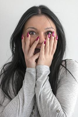 人的嘴,女人,幸福,手,牙齿美白,垂直画幅,美,青少年,留白,青春期