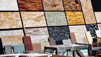 贮藏室,建筑材料,陈列室,石灰华池,斑驳的,不平坦的,大理石装饰效果,石墙,大理石,瓷砖