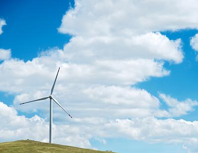 风,能源,平原,草原,螺旋桨,风轮机,风力,电缆,天空,留白