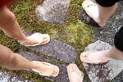 木屐,京都市,星和园,水平画幅,岩石,无人,日本,苔藓,户外,排除