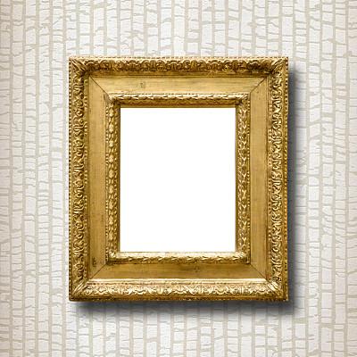 相框,华丽的,全部,壁纸样本,留白,古典式,长方形,乡村风格,白色