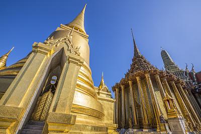 玉佛寺,泰国,曼谷,寺庙,天空,美,灵性,艺术,水平画幅,无人