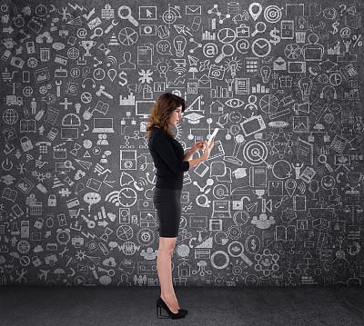 女商人,平板电脑,印度人,经理,仅成年人,眼镜,想法,青年人,信心,技术
