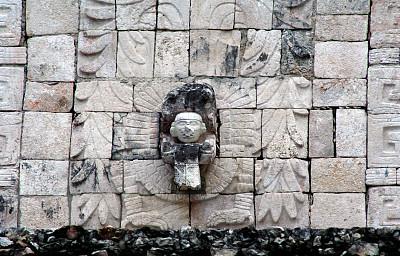 契晨-伊特萨,墙,雕刻物,玛雅文明,墨西哥,泥墙画,无人,块状,犹太教会堂,石材
