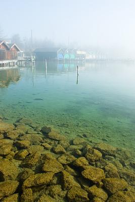 湖,霧,魚群,海底,垂直畫幅,水,碼頭,沙子,巖石,無人