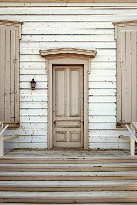 古老的,门,垂直画幅,台阶,建筑物门,墙,彩色图片,木制,无人