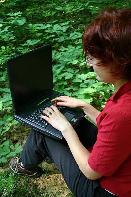 户外,螺旋记事本,垂直画幅,笔记本电脑,人群,彩色图片,技术,计算机,公司企业,成年的