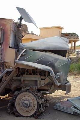 卡车,伊拉克,垃圾,车轮,边框,古老的,陆用车,拆毁的,挡风玻璃