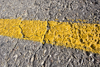 分界线,黄色,水平画幅,无人,路,公路,停车场,城市,涂料,线条
