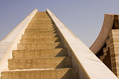 曼塔天文台,斋浦尔,天文台,拉贾斯坦邦,印度,天堂,水平画幅,建筑,无人,楼梯